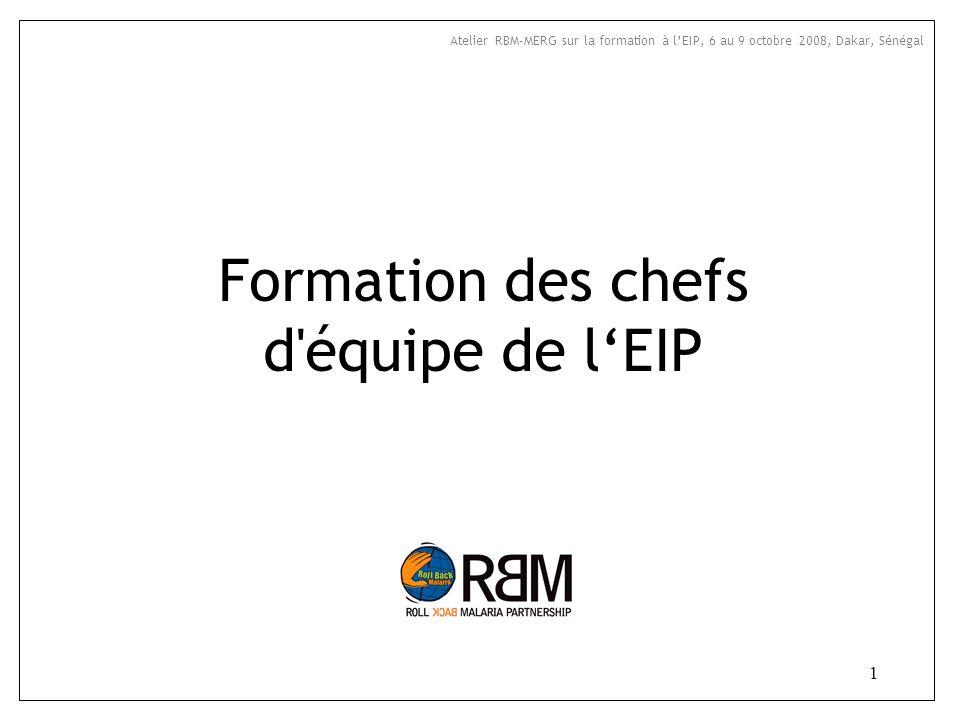 Formation des chefs d équipe de l'EIP