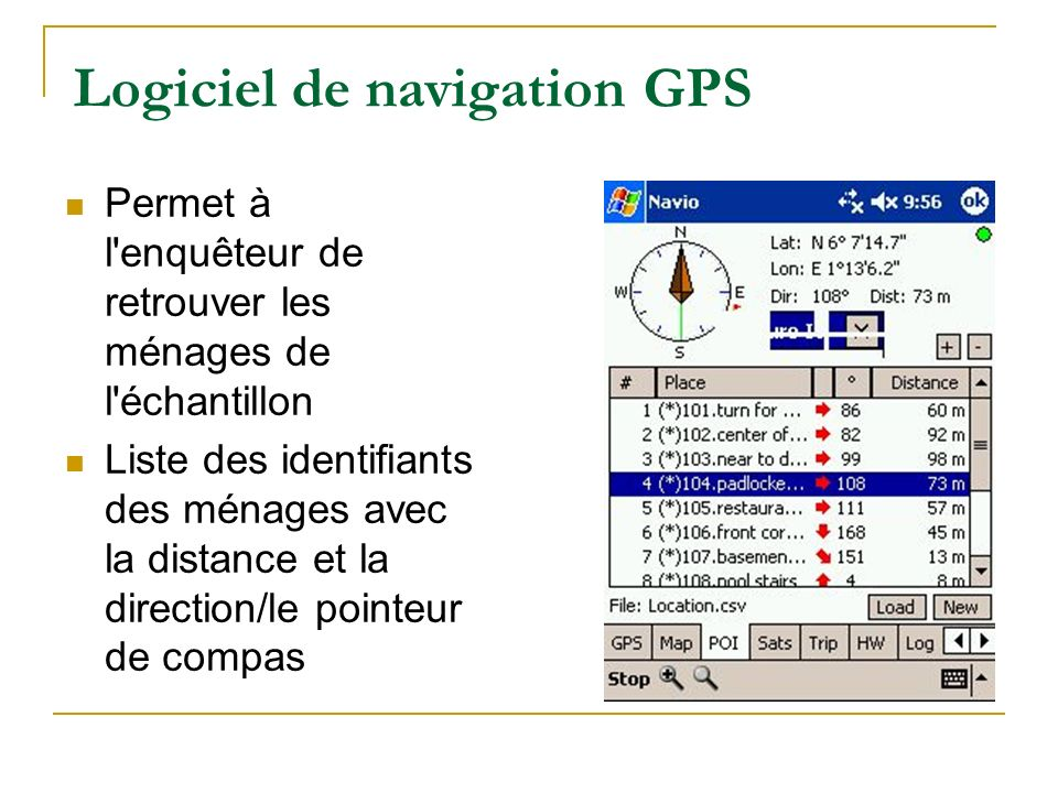 Logiciel de navigation GPS