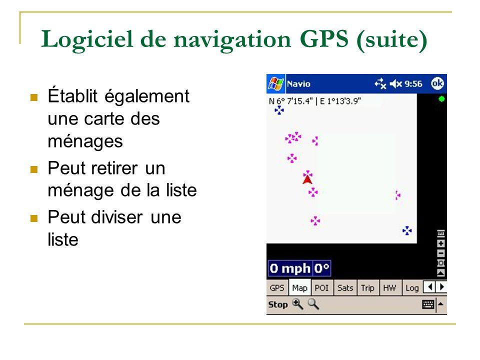 Logiciel de navigation GPS (suite)