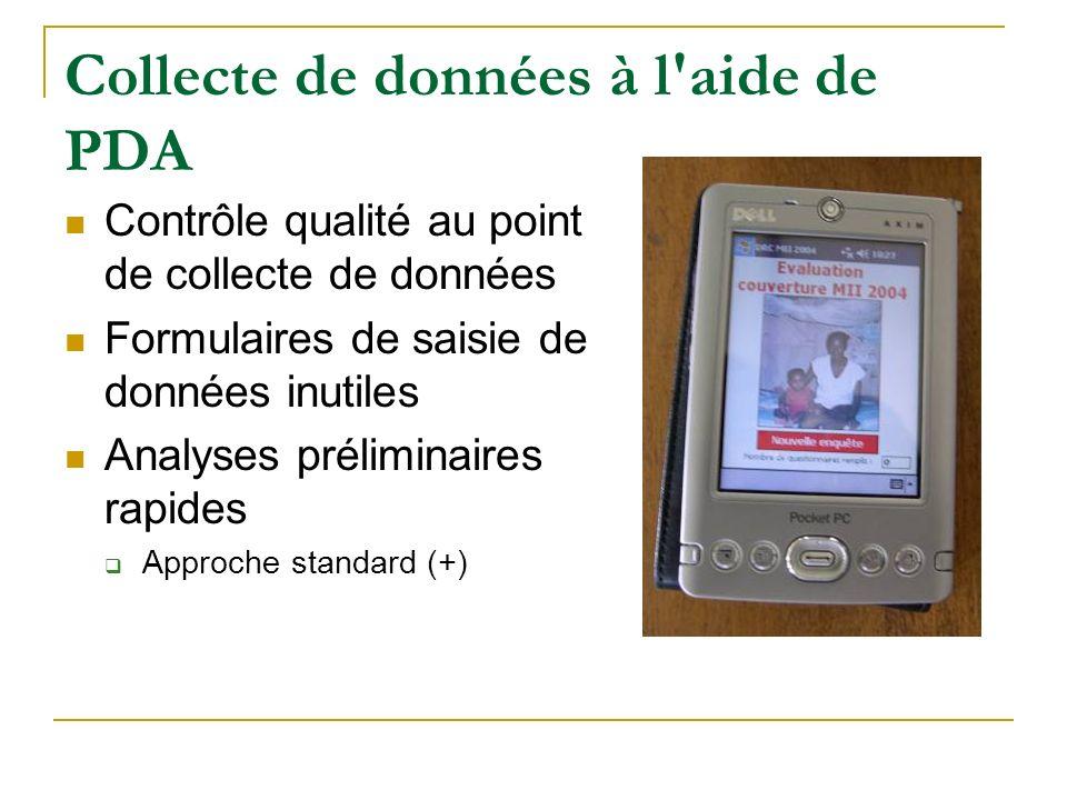 Collecte de données à l aide de PDA