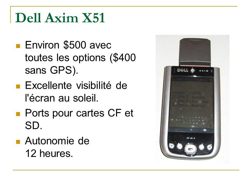 Dell Axim X51 Environ $500 avec toutes les options ($400 sans GPS).