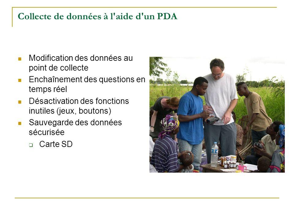 Collecte de données à l aide d un PDA