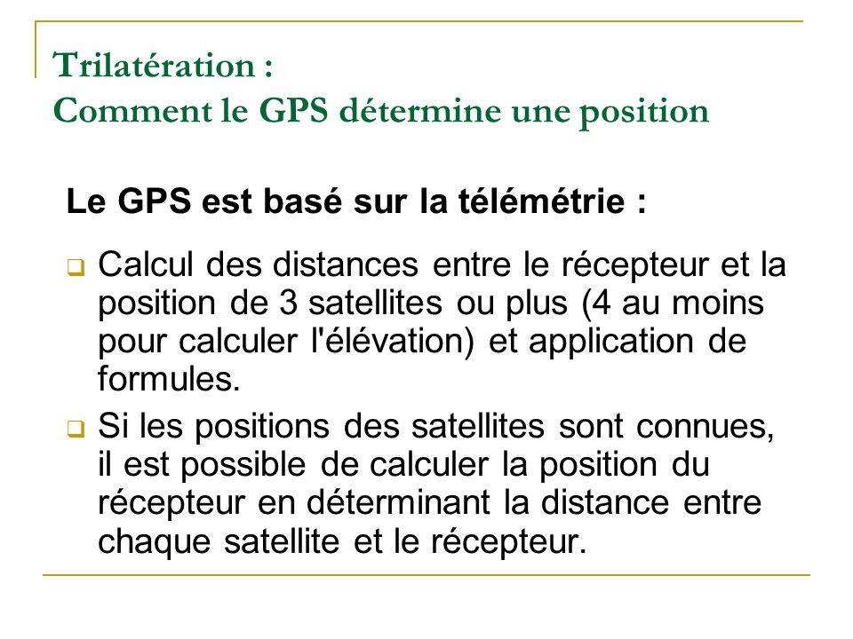 Trilatération : Comment le GPS détermine une position