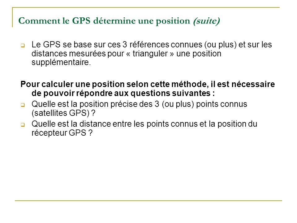 Comment le GPS détermine une position (suite)