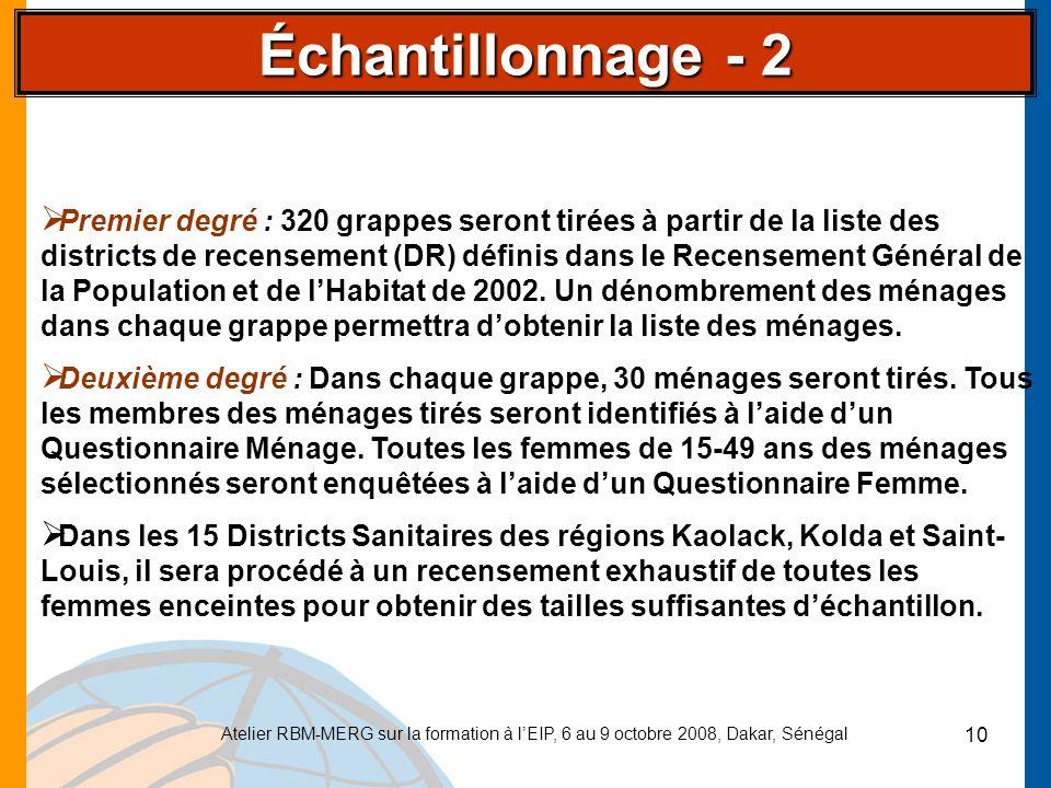 Échantillonnage - 2