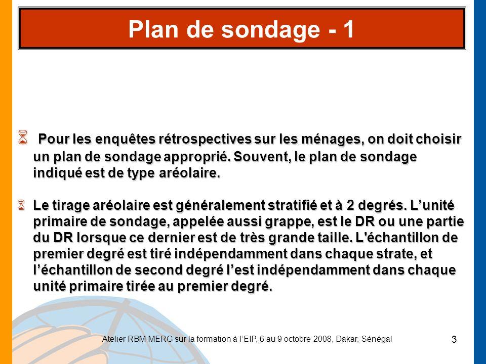 Plan de sondage - 1
