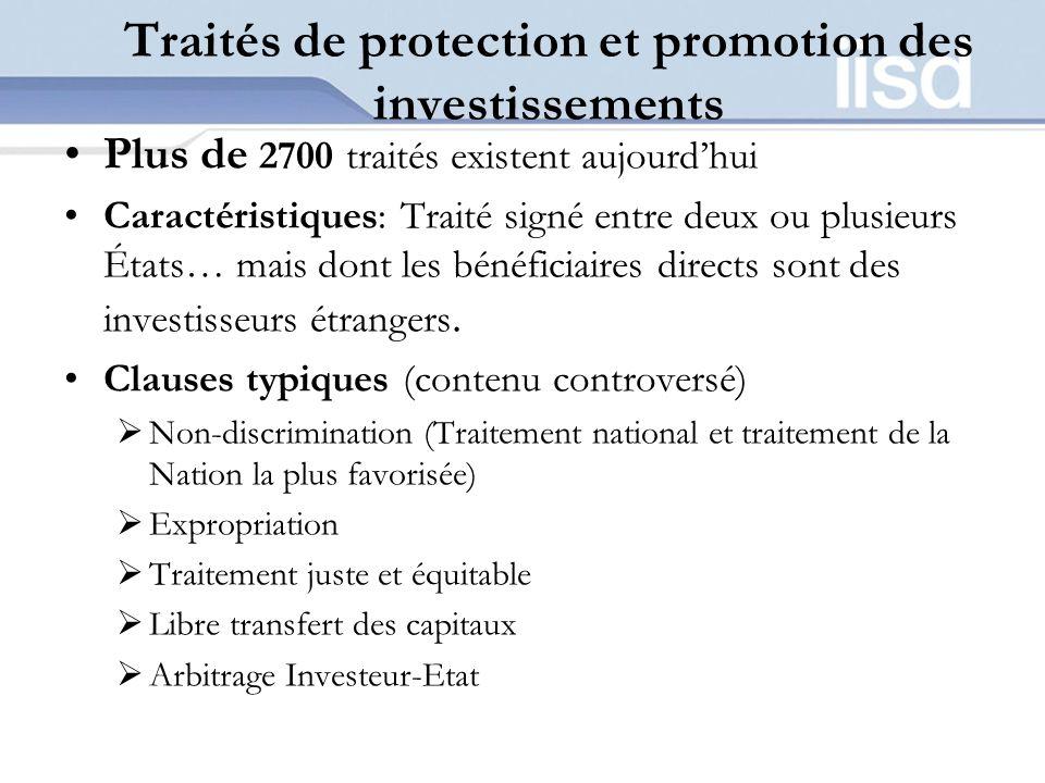 Traités de protection et promotion des investissements