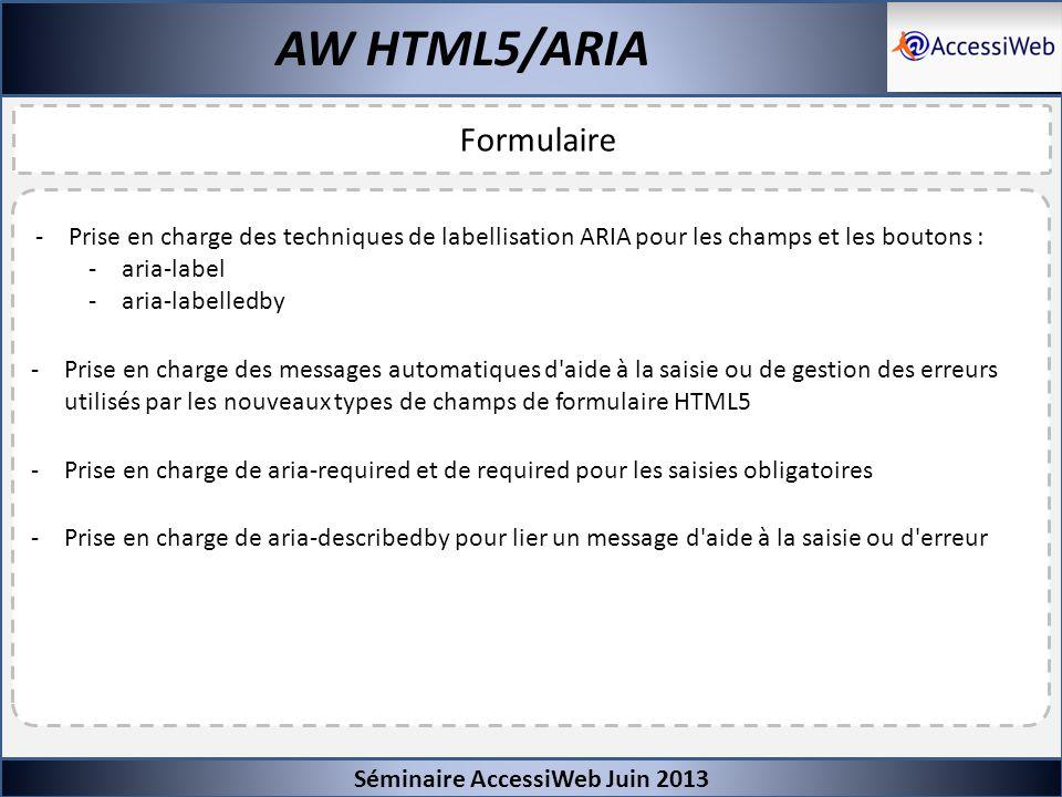 AW HTML5/ARIA Formulaire