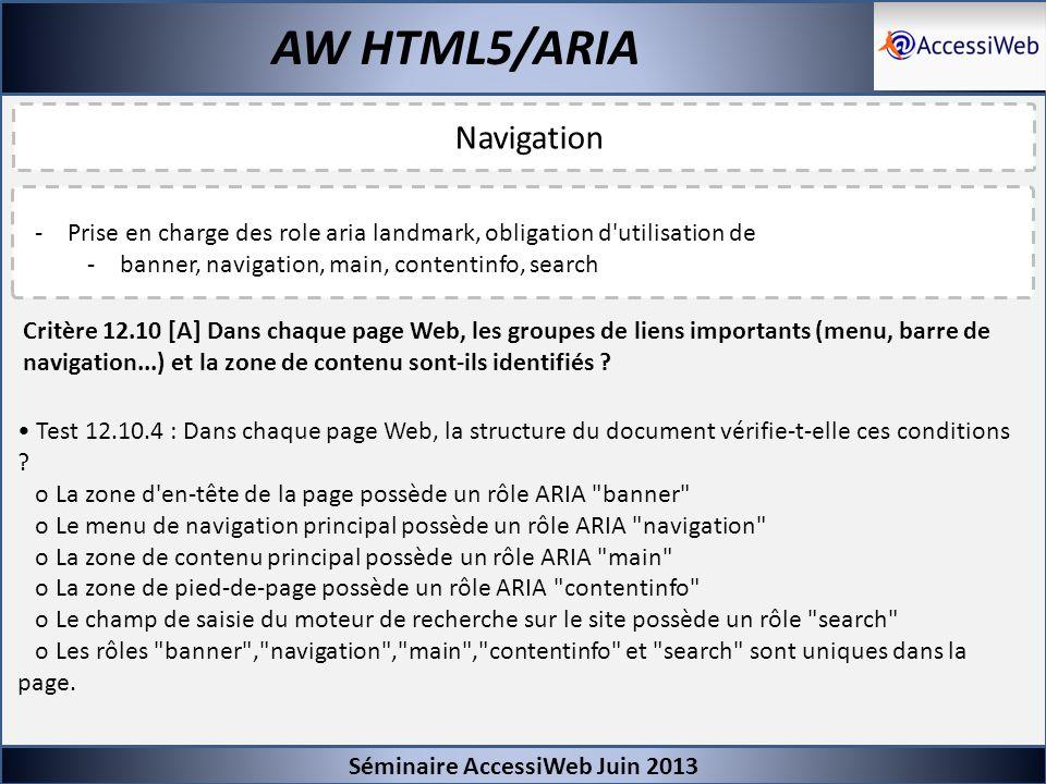 AW HTML5/ARIA Navigation