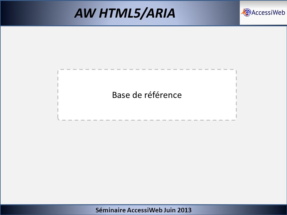 Séminaire AccessiWeb Juin 2013