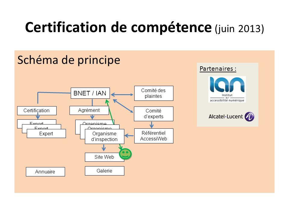 Certification de compétence (juin 2013)