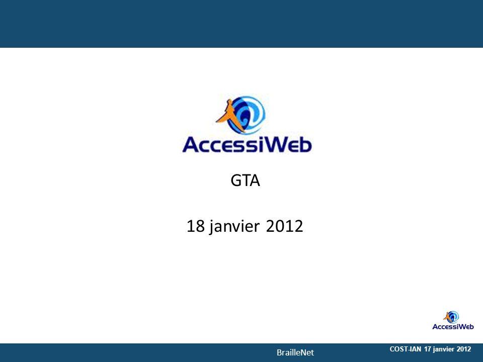 1‹N°› 20/08/2010 GTA 18 janvier 2012 COST-IAN 17 janvier 2012 1