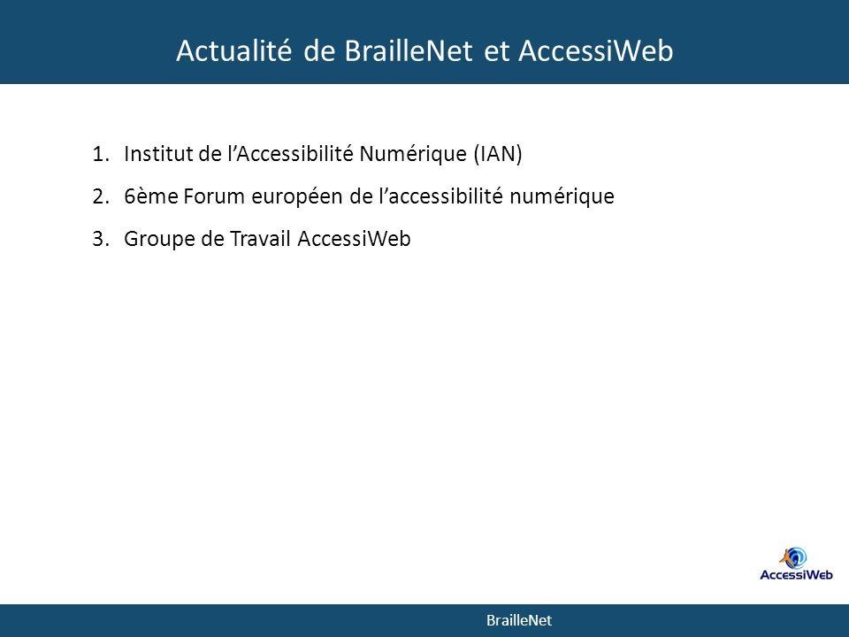 Actualité de BrailleNet et AccessiWeb