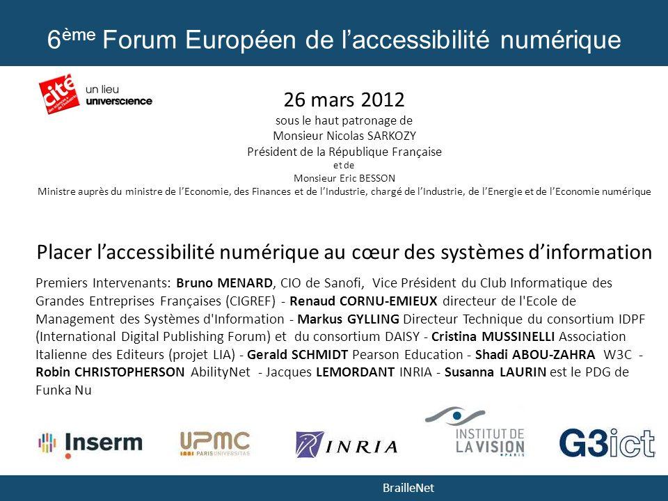 6ème Forum Européen de l'accessibilité numérique
