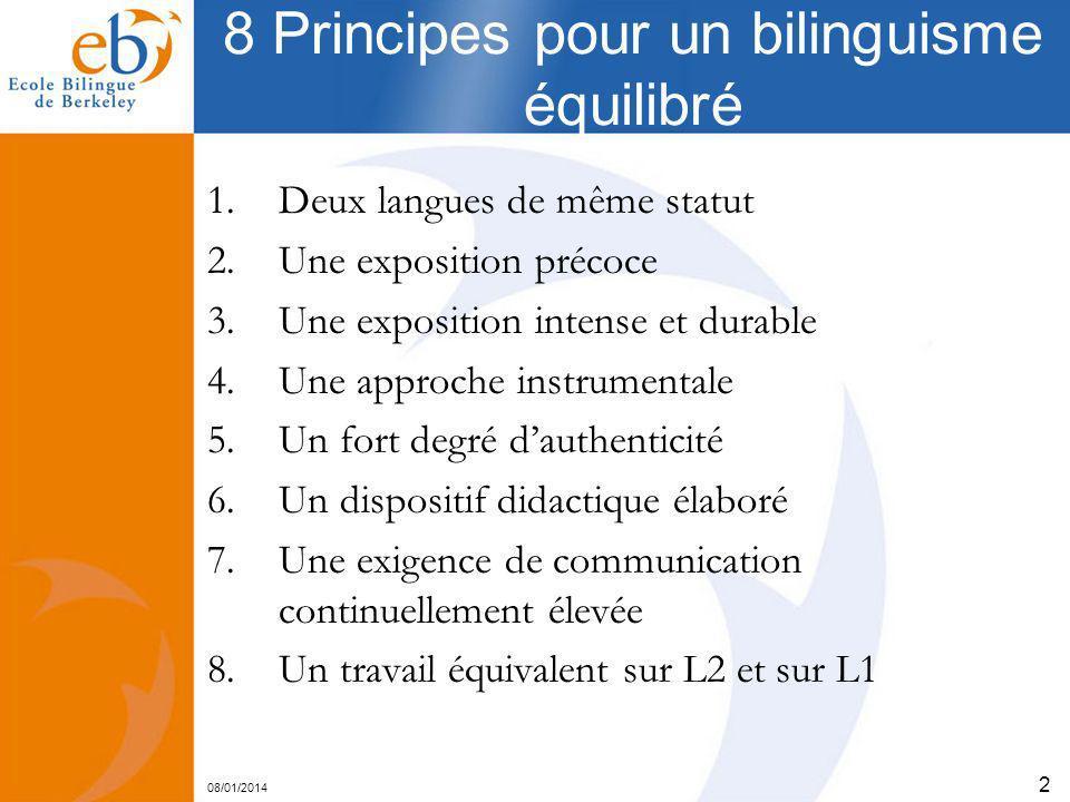 8 Principes pour un bilinguisme équilibré