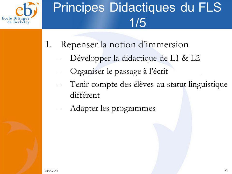 Principes Didactiques du FLS 1/5