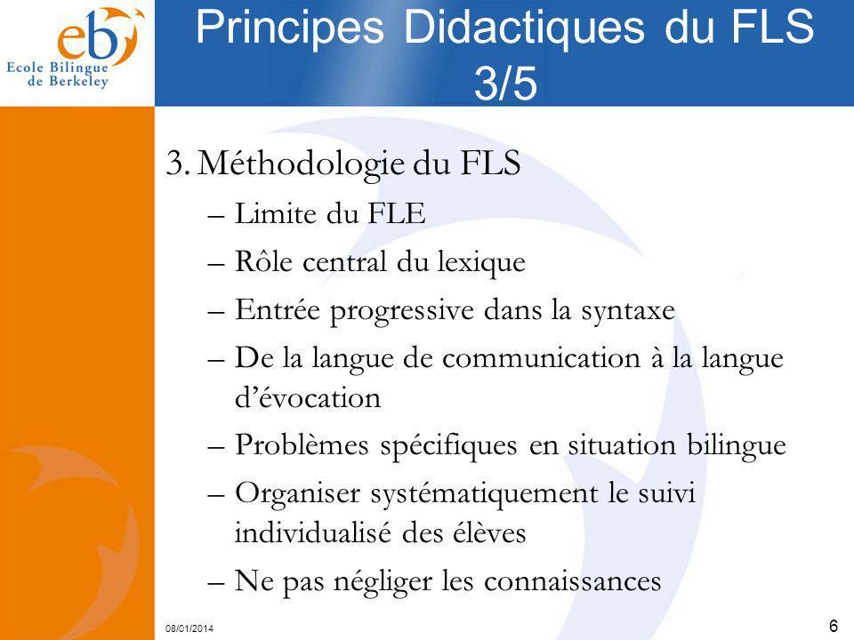 Principes Didactiques du FLS 3/5