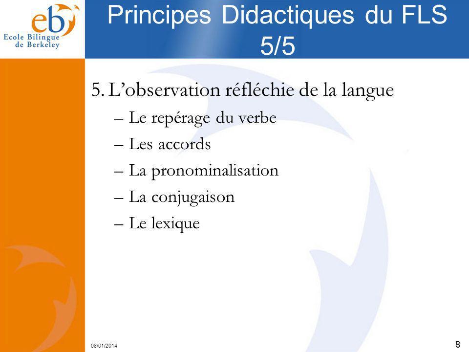 Principes Didactiques du FLS 5/5