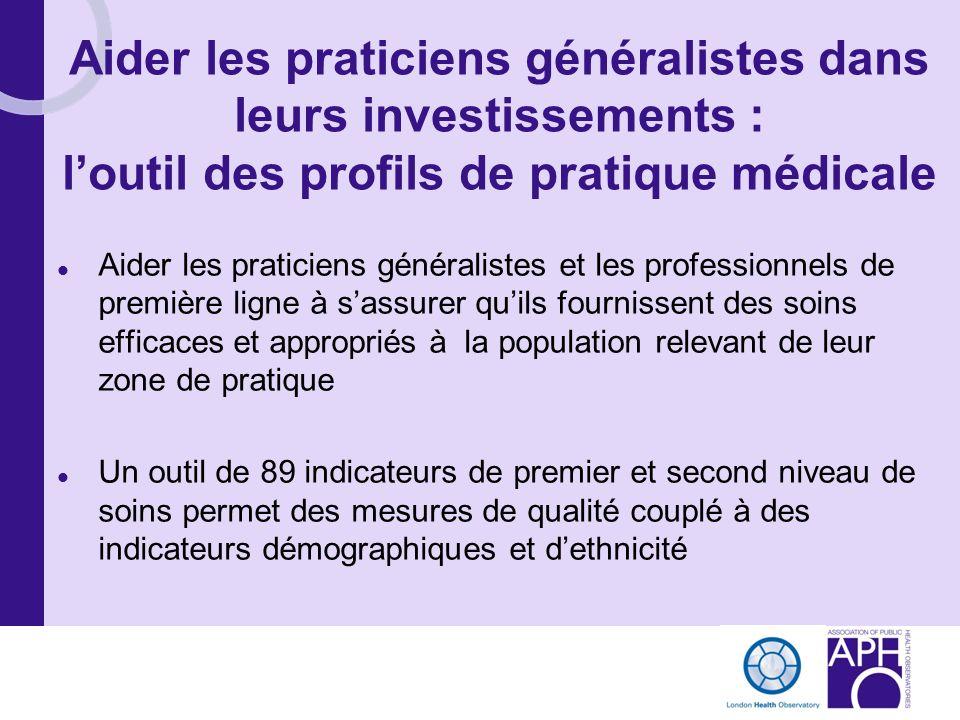 Aider les praticiens généralistes dans leurs investissements : l'outil des profils de pratique médicale