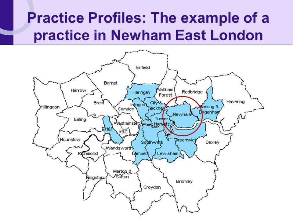 Practice Profiles: The example of a practice in Newham East London
