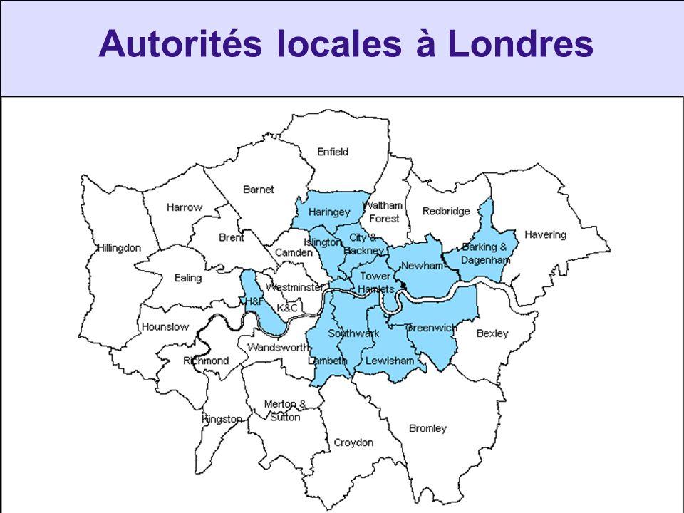 Autorités locales à Londres