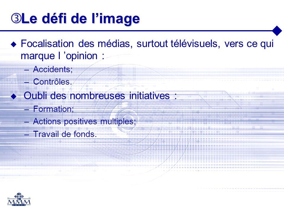 Le défi de l'image Focalisation des médias, surtout télévisuels, vers ce qui marque l 'opinion : Accidents;