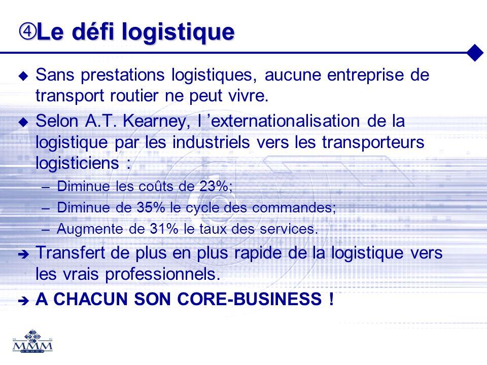 Le défi logistiqueSans prestations logistiques, aucune entreprise de transport routier ne peut vivre.