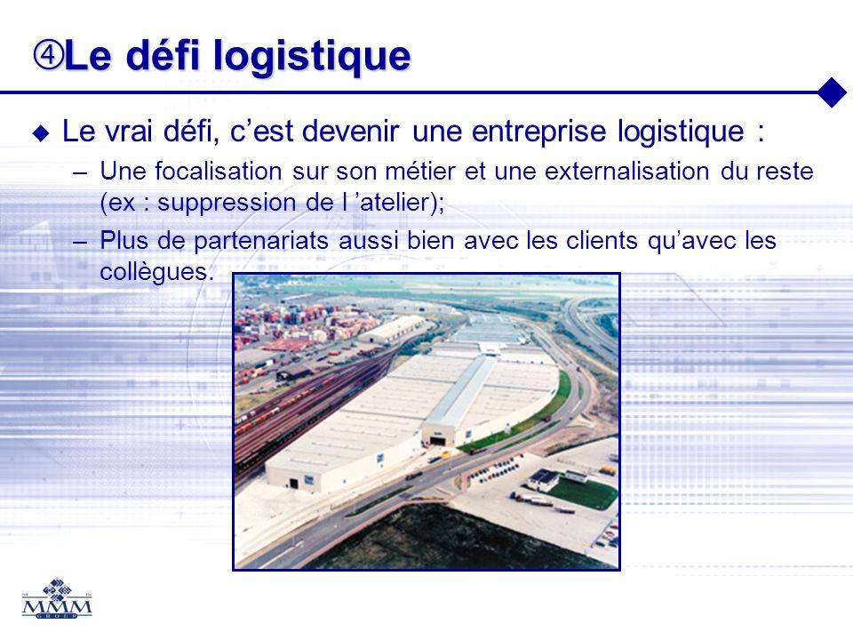 Le défi logistique Le vrai défi, c'est devenir une entreprise logistique :