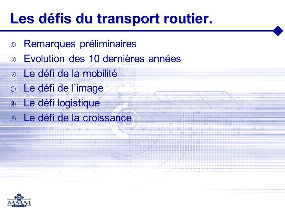 Les défis du transport routier.