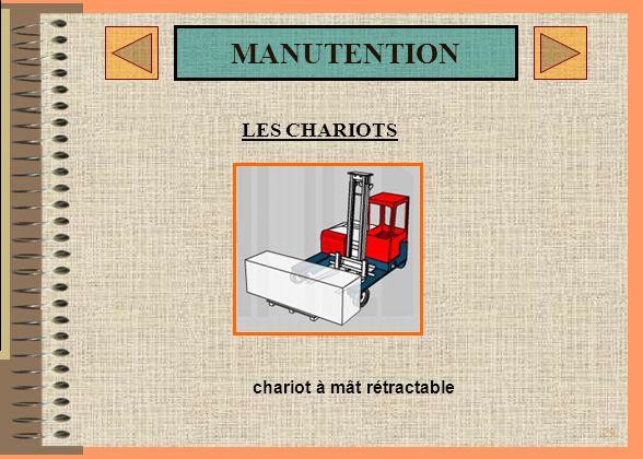 LES CHARIOTS chariot à mât rétractable
