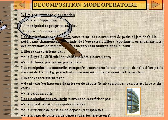 DECOMPOSITION MODE OPERATOIRE