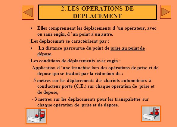 2. LES OPERATIONS DE DEPLACEMENT