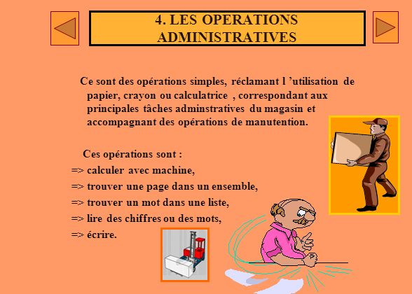 4. LES OPERATIONS ADMINISTRATIVES