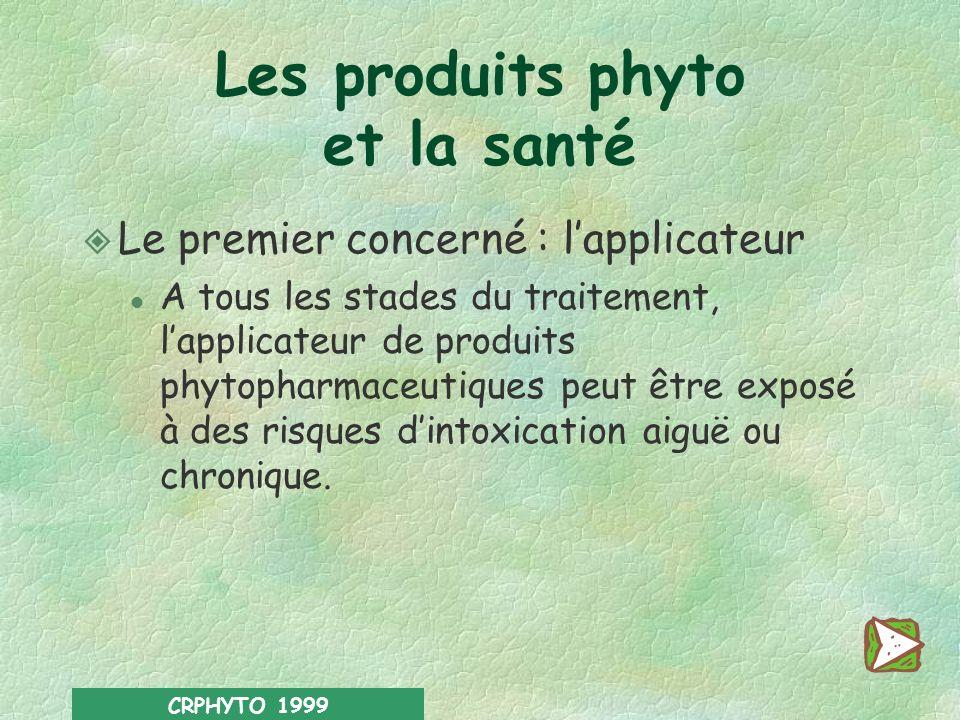 Les produits phyto et la santé