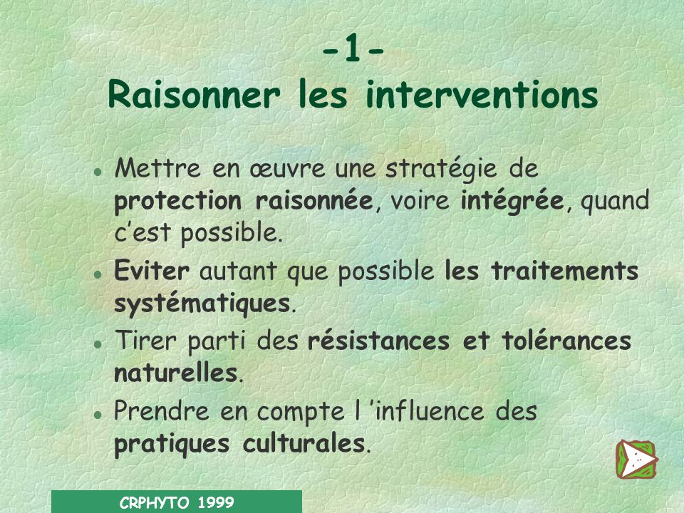 -1- Raisonner les interventions