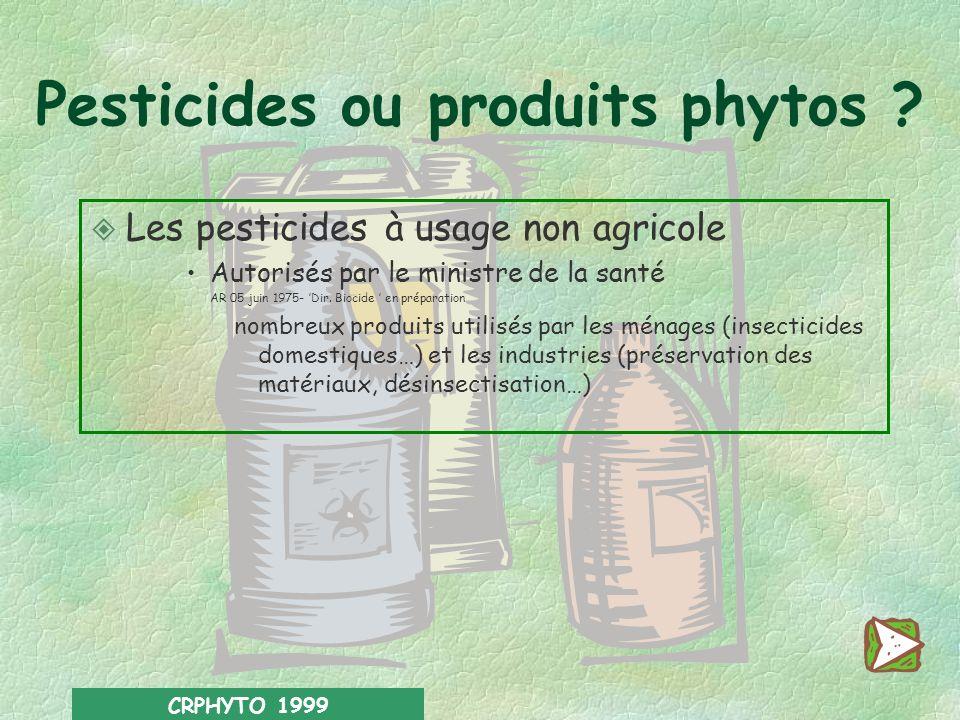 Pesticides ou produits phytos
