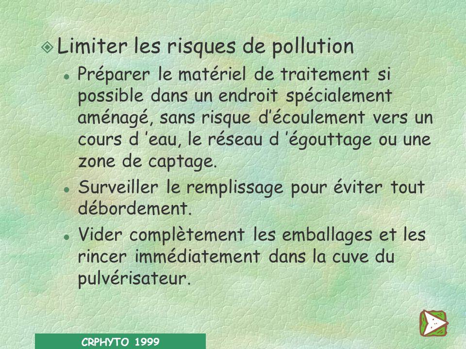 Limiter les risques de pollution