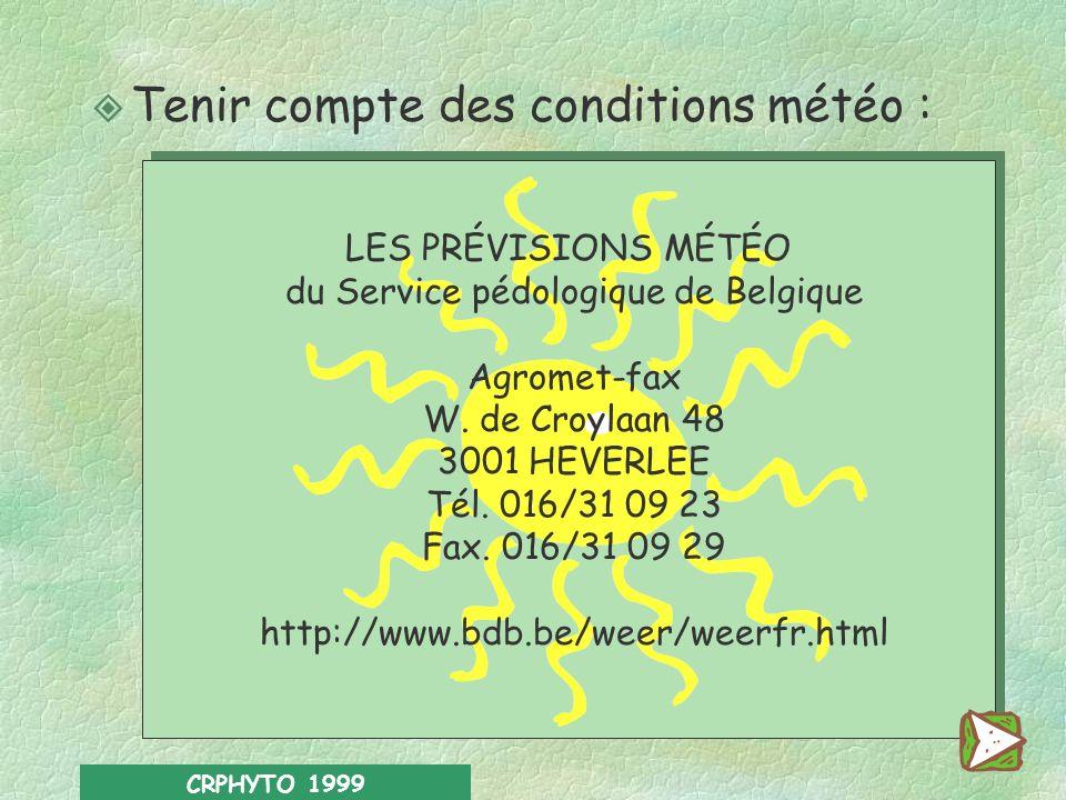 du Service pédologique de Belgique