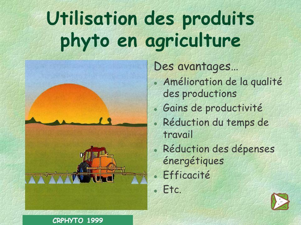 Utilisation des produits phyto en agriculture
