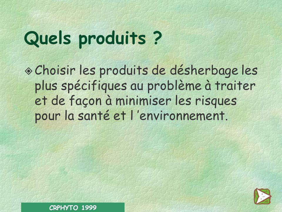 Quels produits