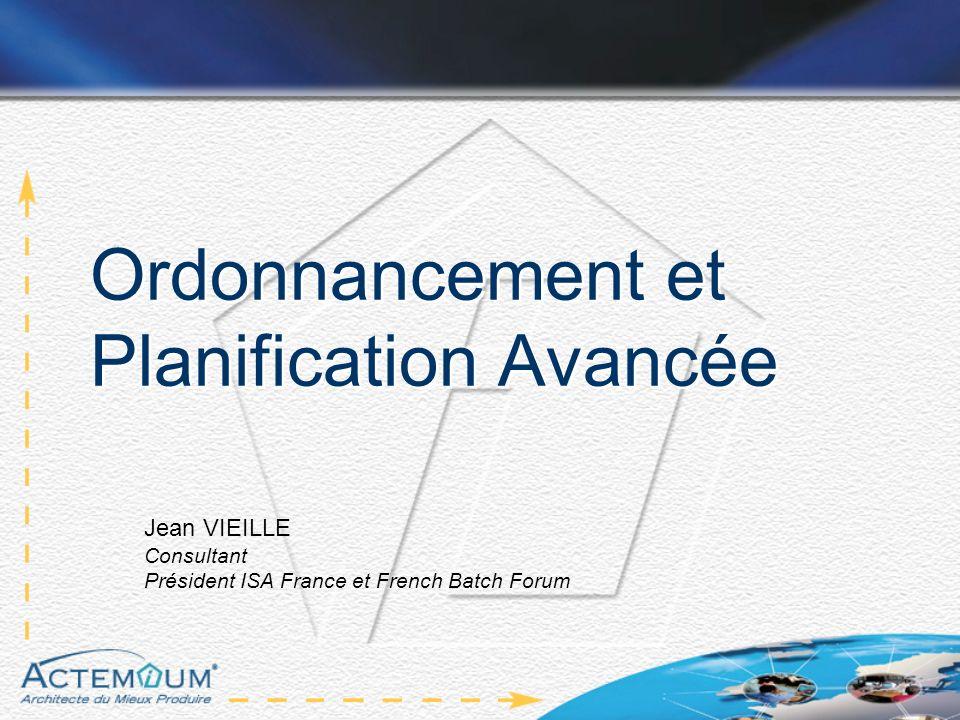Ordonnancement et Planification Avancée