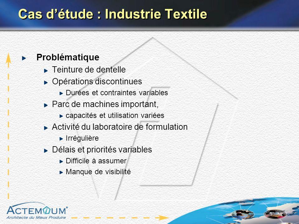 Cas d'étude : Industrie Textile