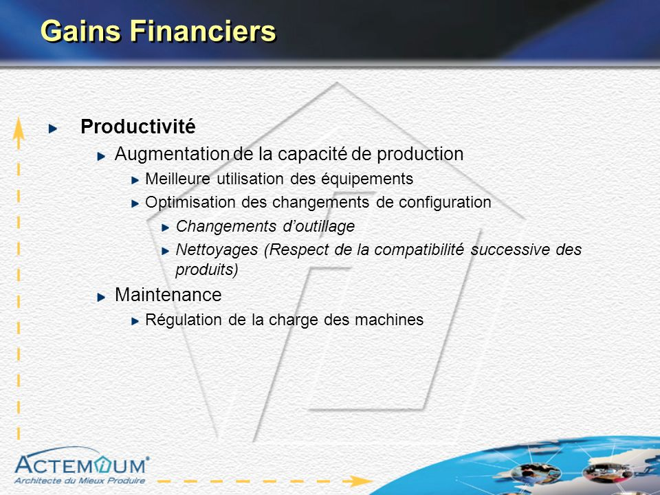 Gains Financiers Productivité