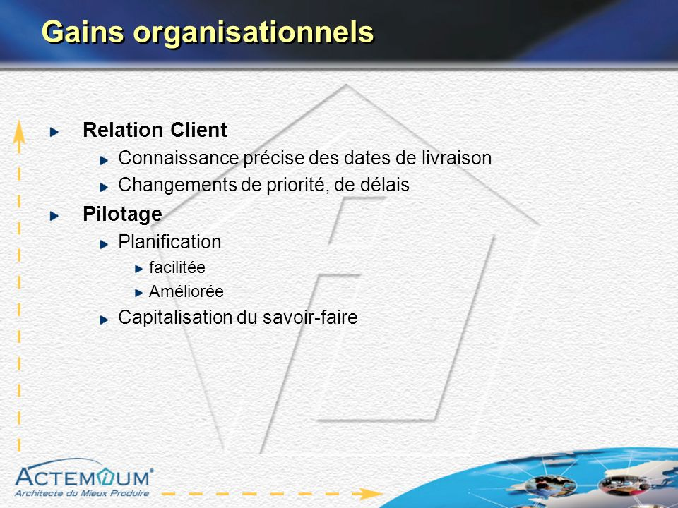Gains organisationnels