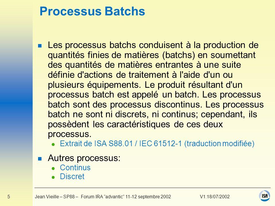 Processus Batchs