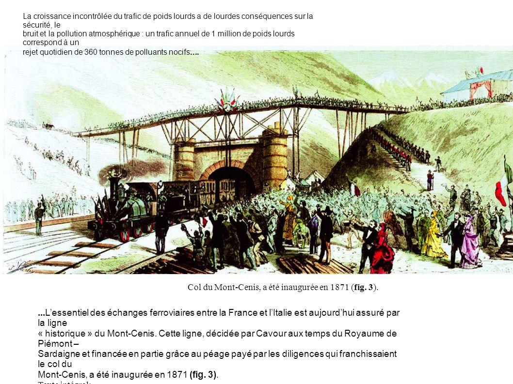 Col du Mont-Cenis, a été inaugurée en 1871 (fig. 3).
