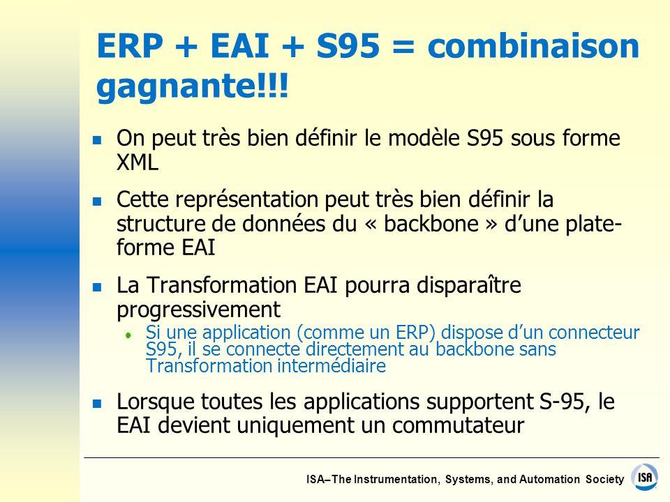 ERP + EAI + S95 = combinaison gagnante!!!