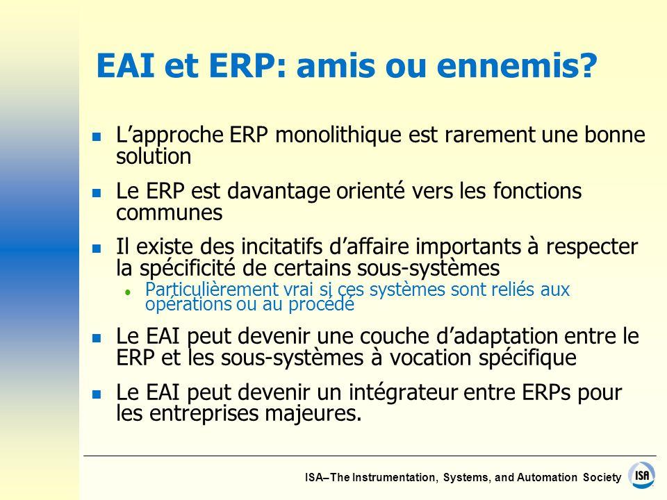 EAI et ERP: amis ou ennemis