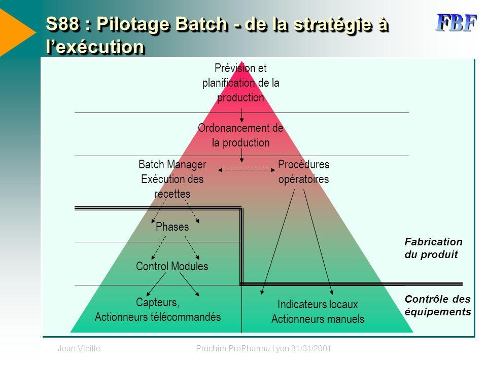 S88 : Pilotage Batch - de la stratégie à l'exécution