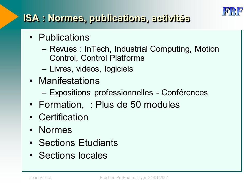 ISA : Normes, publications, activités